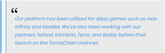 the Tomo team further stated