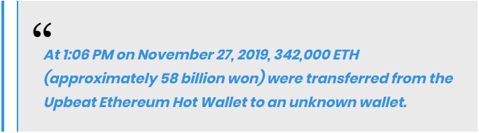 Upbit's CEO Lee Seok-woo said