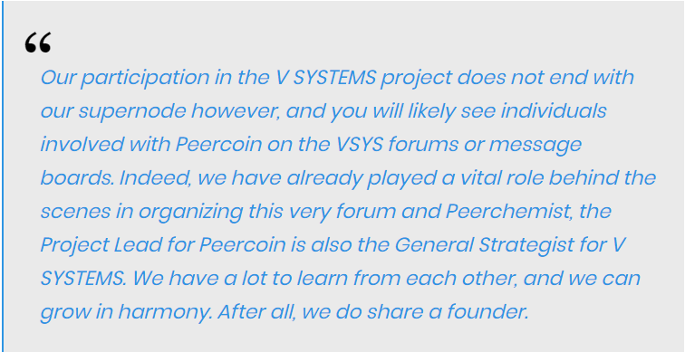 the Peercoin team remarked