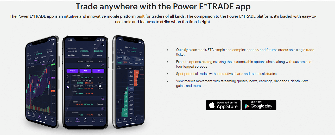 E*Trade Reviews - Mobile App