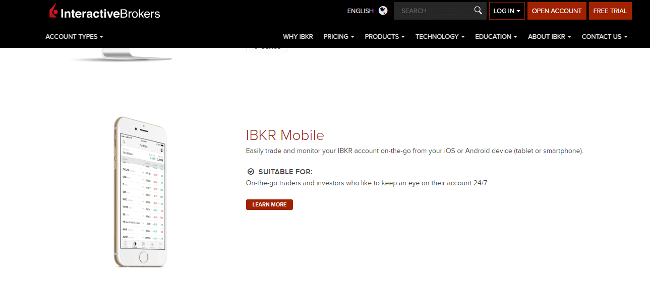 Interactive Brokers Review - IBKR Mobile app