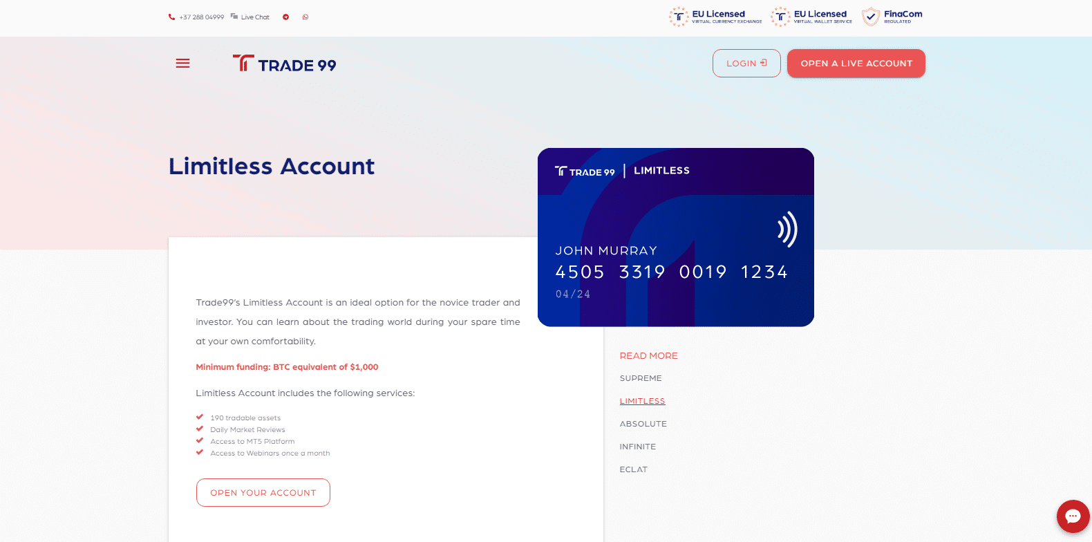 Limitless Account