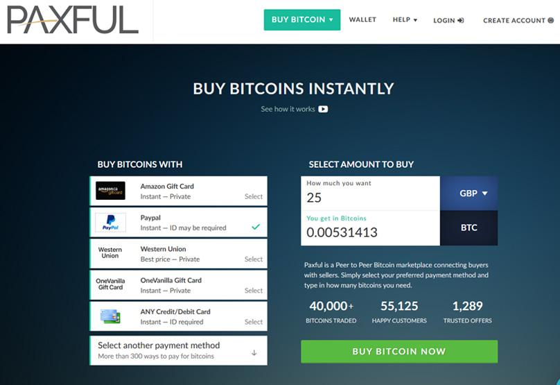 Paxful - Buy Bitcoins with PayPal