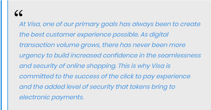 Jack Forestell, the Chief Product Officer of Visa, stated