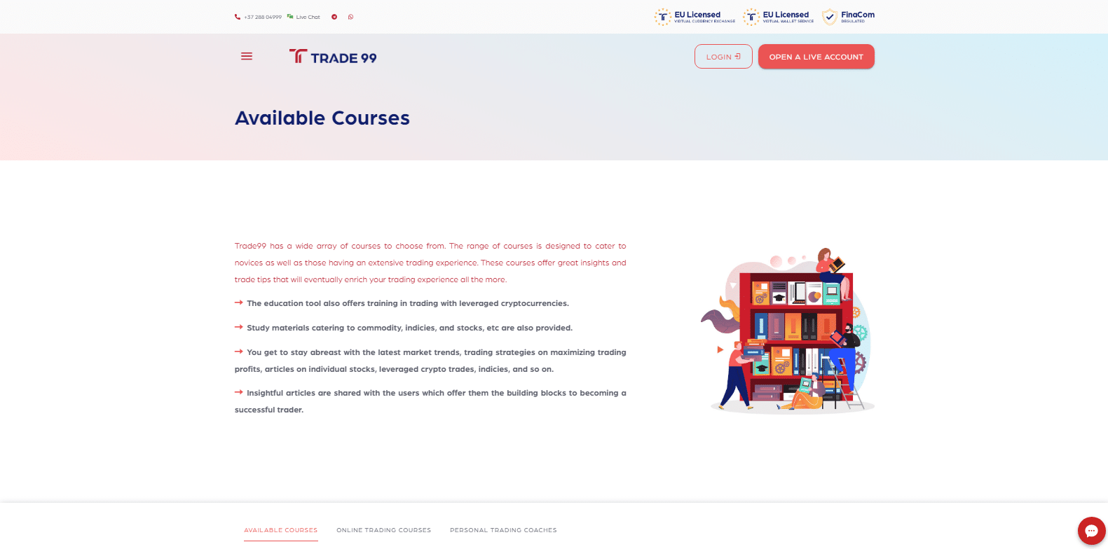 Courses Available at Trade99