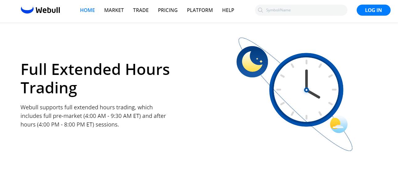 Webull Review - Full Extended Hours Trading