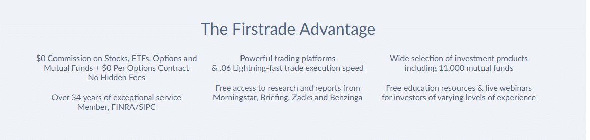 Firstrade Reviews - Advantages