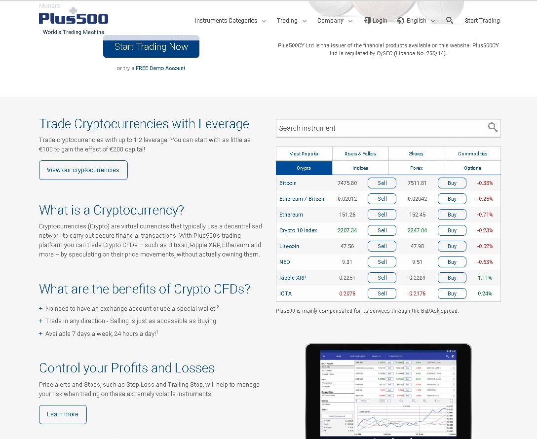 Plus500 Reviews - Crypto Trading