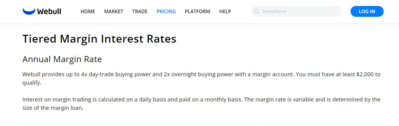 Webull Reviews - Margin Interest Rates