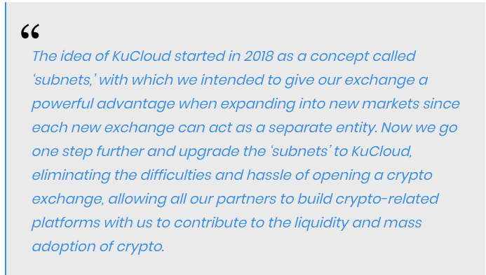 Johnny Lyu, co-founder of KuCoin stated