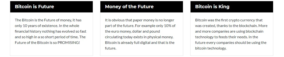 Features of Bitcoin Future