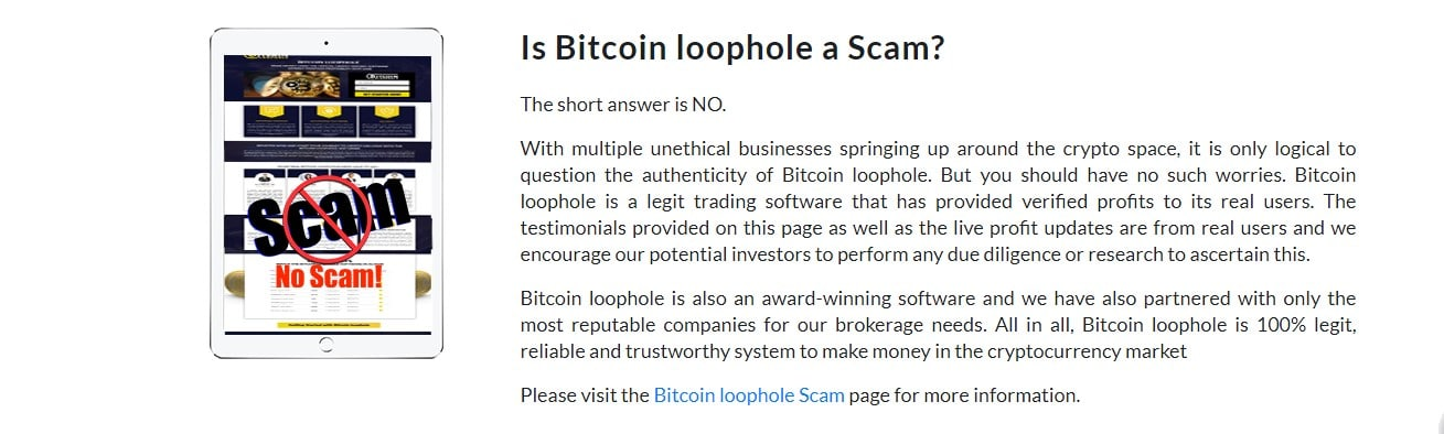 Bitcoin Loophole Reviews – Check yourself Is Bitcoin Loophole Scam?