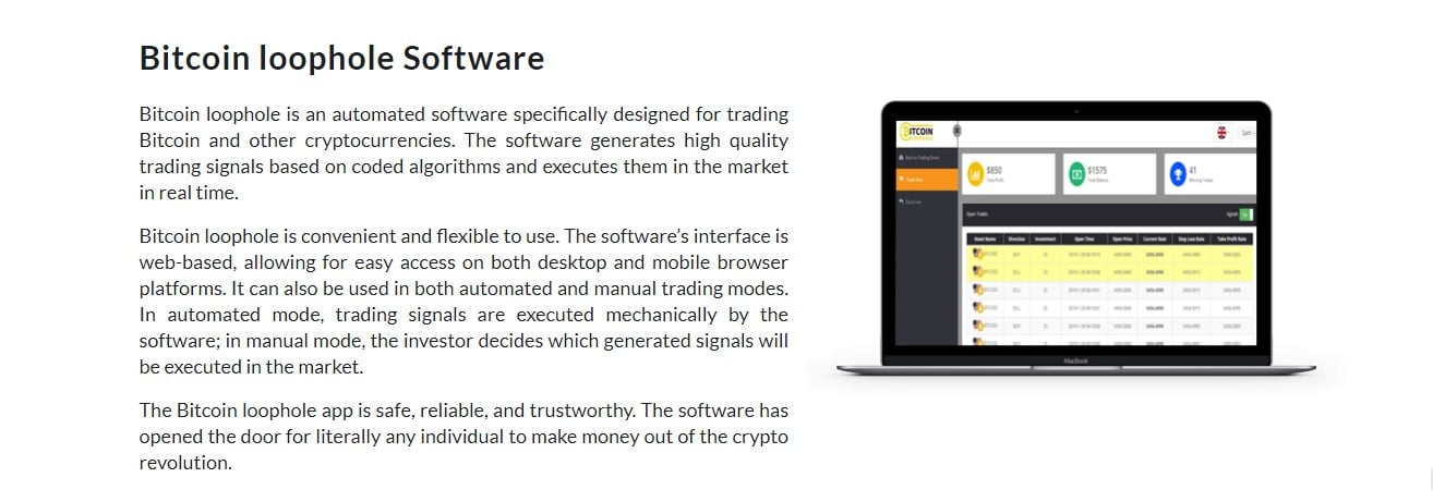 Bitcoin Loophole Reviews - Know about Bitcoin Loophole Software