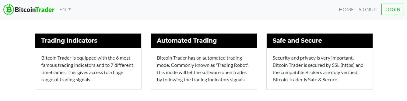 Features of Bitcoin Trader
