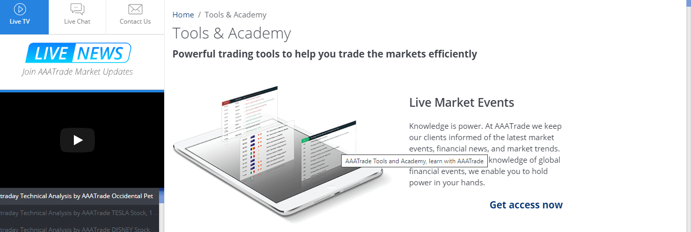 AAATrade Review – Tools Available with AAATrade
