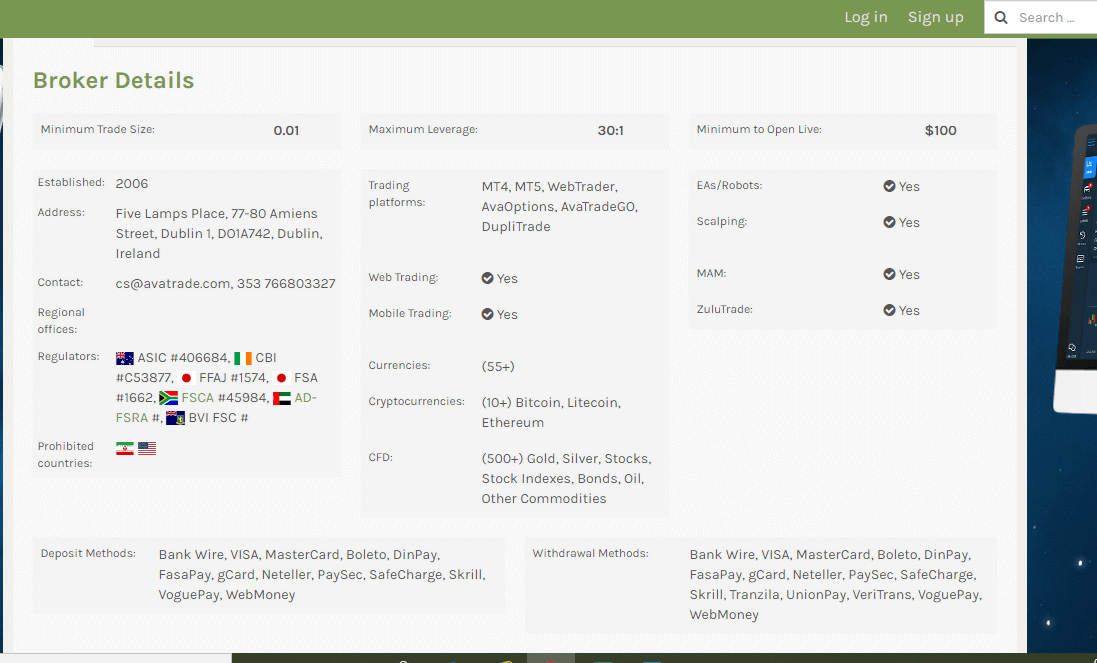AvaTrade Reviews - Benefits of AvaTrade
