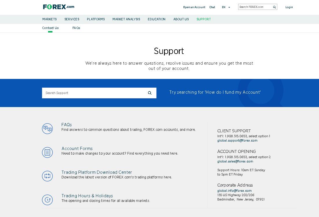 Forex.com Review – Customer Service
