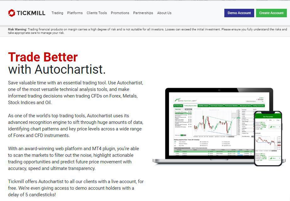 Tickmill Reviews -Trading Tools
