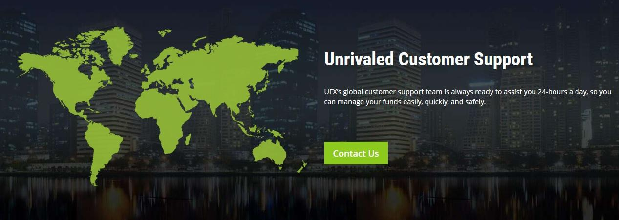 UFX Review - UFX Global Unrivalled Customer Service Section