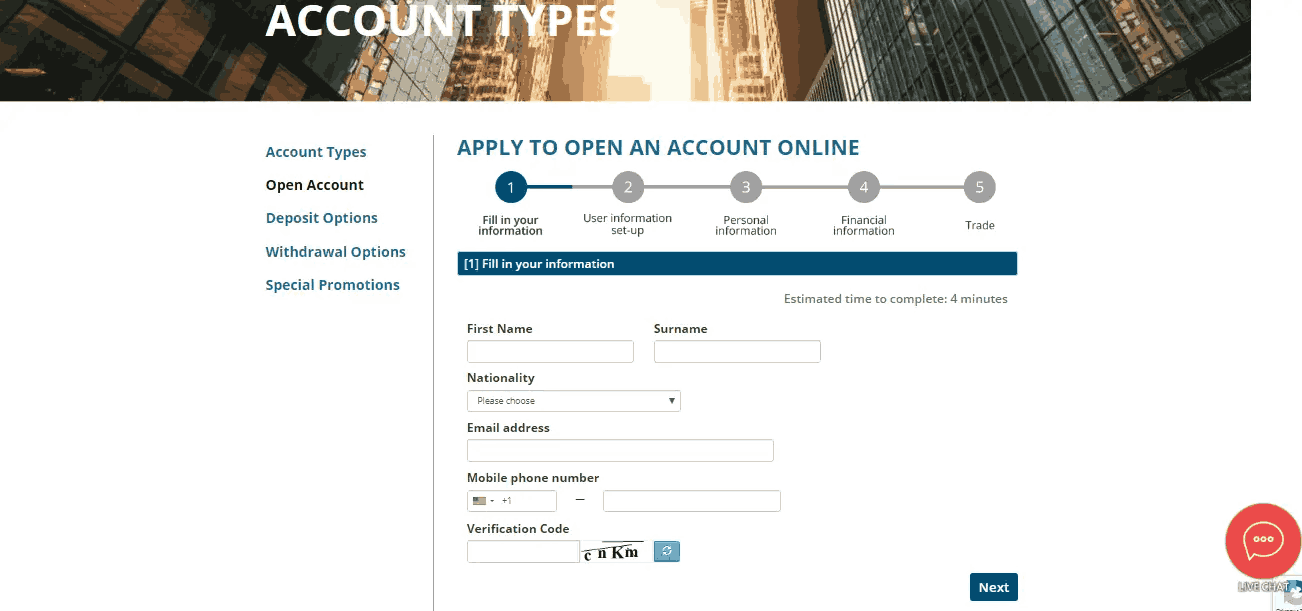 USGFX Reviews – How to Open an Account?