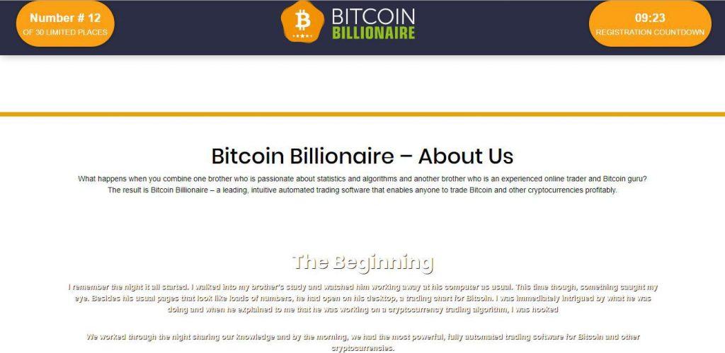 Bitcoin Billionaire Reviews – About Bitcoin Billionaire