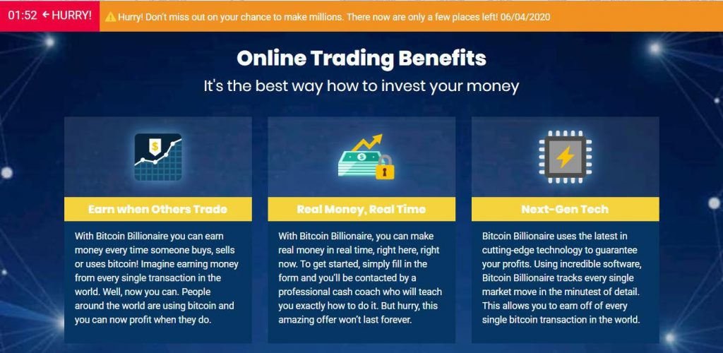 Bitcoin Billionaire Reviews – Benefits of Bitcoin Billionaire