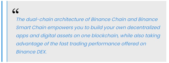 Binance stated