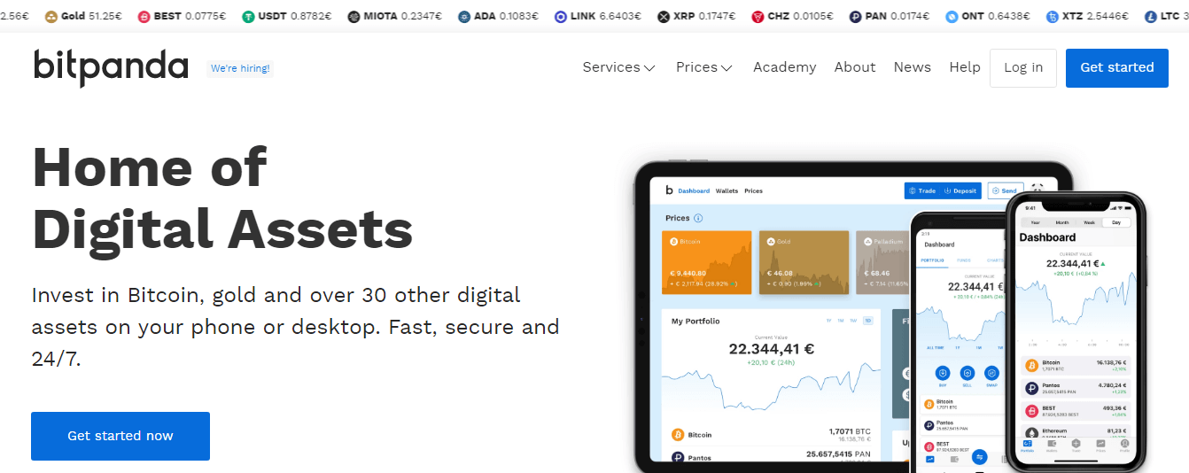 BitPanda - Top cryptocurrency exchange