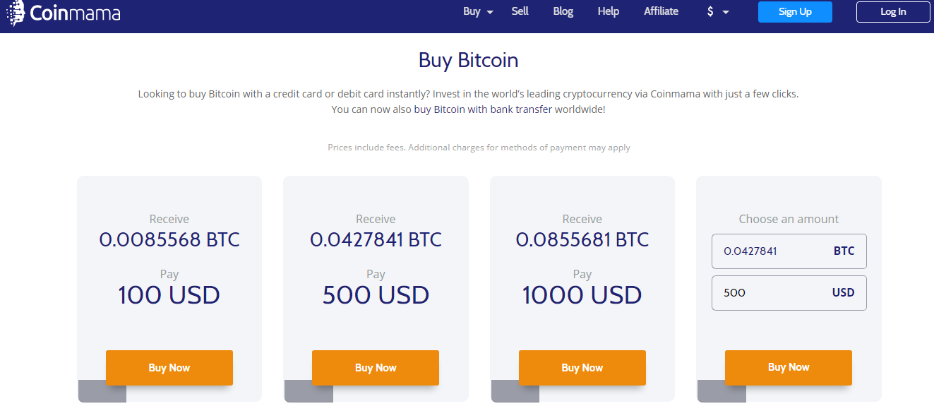 Buying Bitcoin With Credit Card through Coinmama