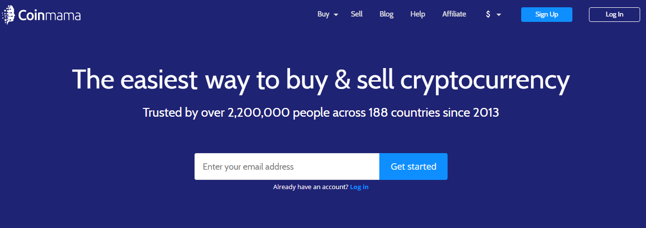 Coinmama – the best cryptocurrency exchanges
