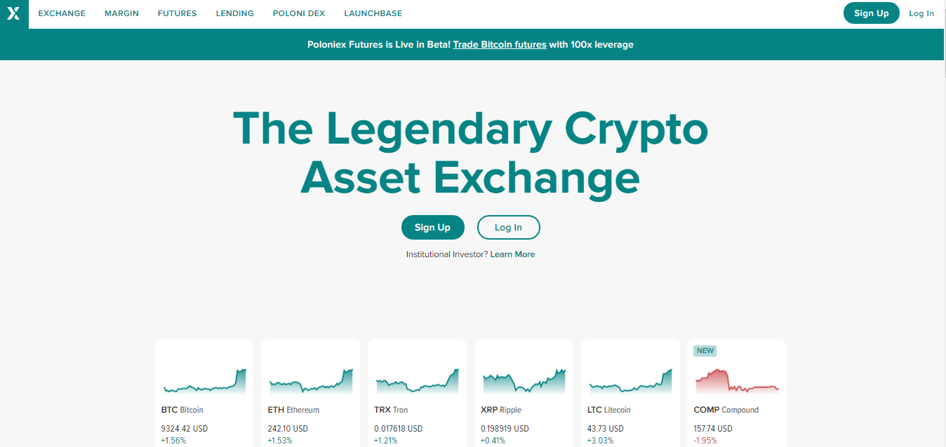 Poloniex – Top cryptocurrency exchanges