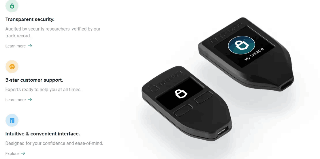 TREZOR - One of the Bitcoin Wallets