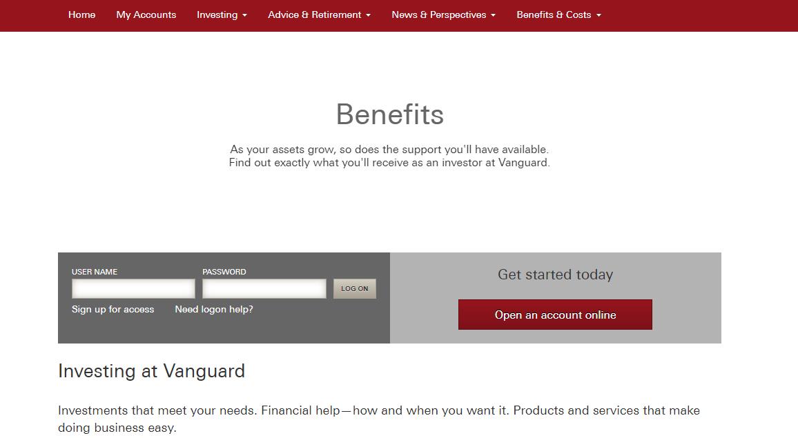 Vanguard Review - Benefits