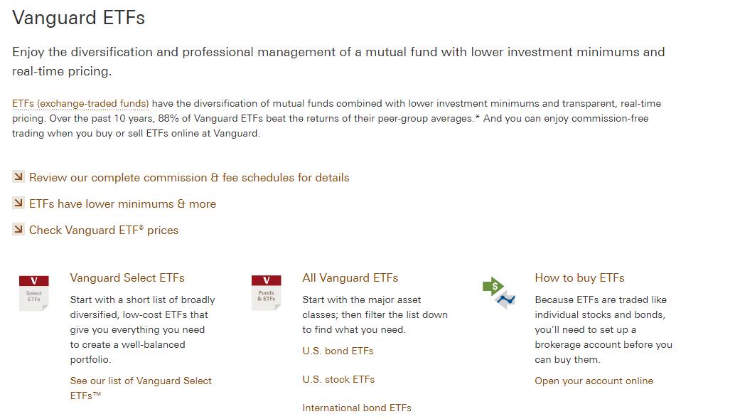 Vanguard Review - ETFs