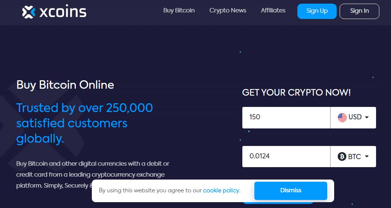 XCoins - Buy Bitcoin via PayPal